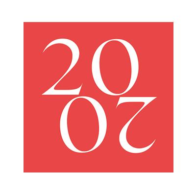 cerchio corallo con anno 2020 di donna&leadership